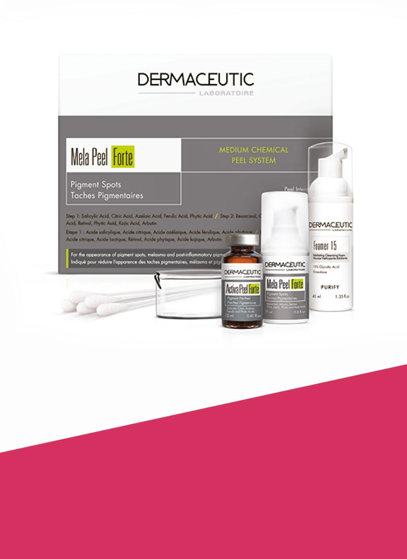Dermaceutic Mela Peel Forte treatment available at Rewonder Clinic